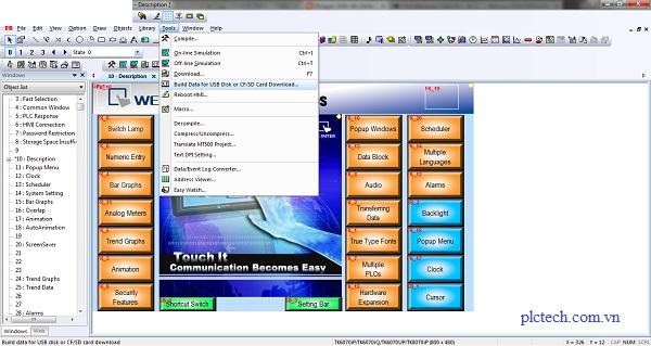 Hướng dẫn thiết lập nhiều ngôn ngữ màn hình HMI Weintek