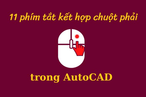 phím tắt trong Autocad