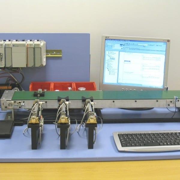 Bộ thí nghiệm phân loại sản phẩm tự động sử dụng PLC